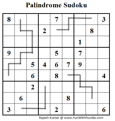 Palindrome Sudoku (Daily Sudoku League #92)