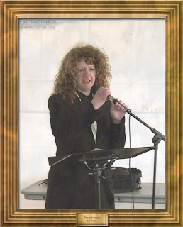 Regina writer Tracy Hamon, at the Cathedral Village Arts Festival 2011
