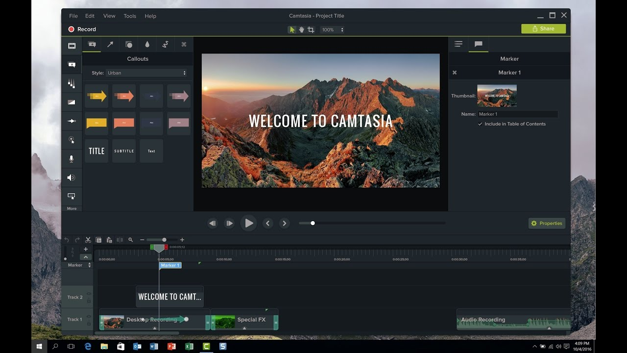 camtasia free download filehippo