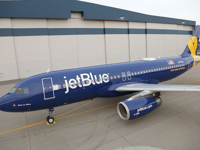 JetBlue Vets in Blue A320 Honoring Veterans