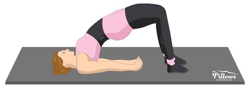 18 Easy Stretches In 18 Minutes To Help Reduce Back Pain - BRIDGE POSE