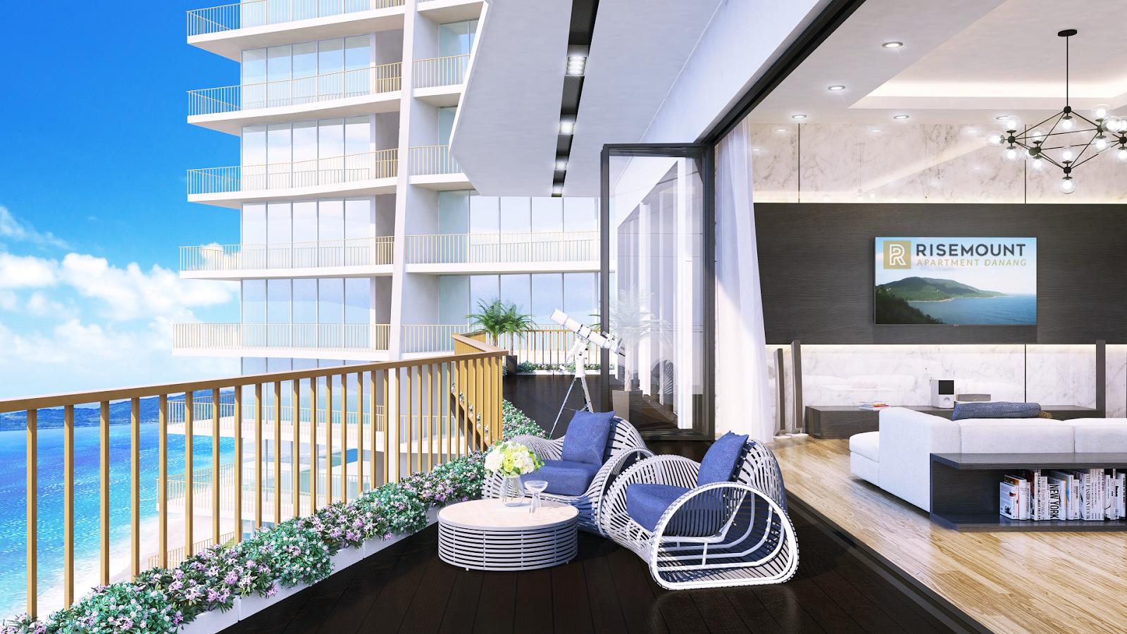 Tầm nhìn rộng mở bao quát thành phố tại Risemount Apartment