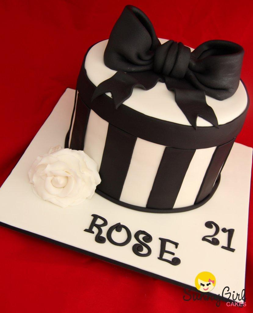 Roses 21st Birthday Cake