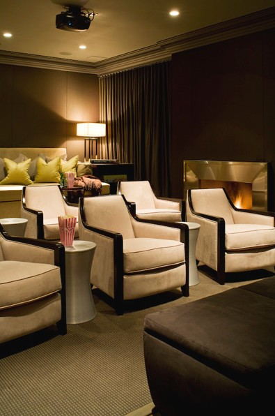 Small Home Theater Room Design: A Love Affair With Design: EXTRAVAGANT