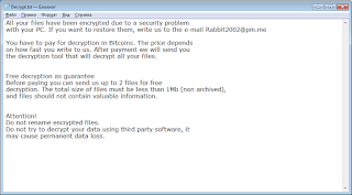 RabbitFox Ransomware note записка