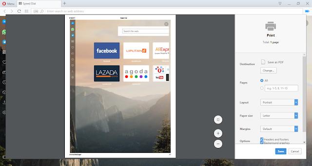 Catatan Ikrom Cara Convert HTML Menjadi PDF dengan Opera Browser