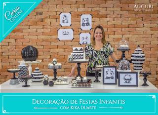 """Curso """"Decoração de Festas Infantis"""" Online"""