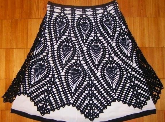 9df2b085bef Patrón crochet de fantástica falda con diseño de piñas