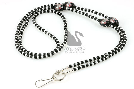 Spotted Butterfly Beaded Lanyard (L003)