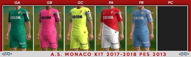 AS Monaco 2017-18 Kit PES 2013