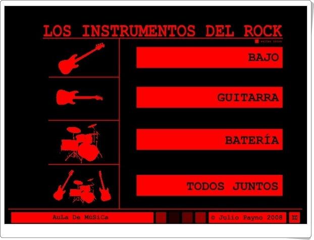 """""""Los instrumentos del rock"""" (Música de Educación Primaria)"""