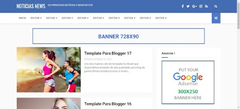 Templates Blogger Noticias News
