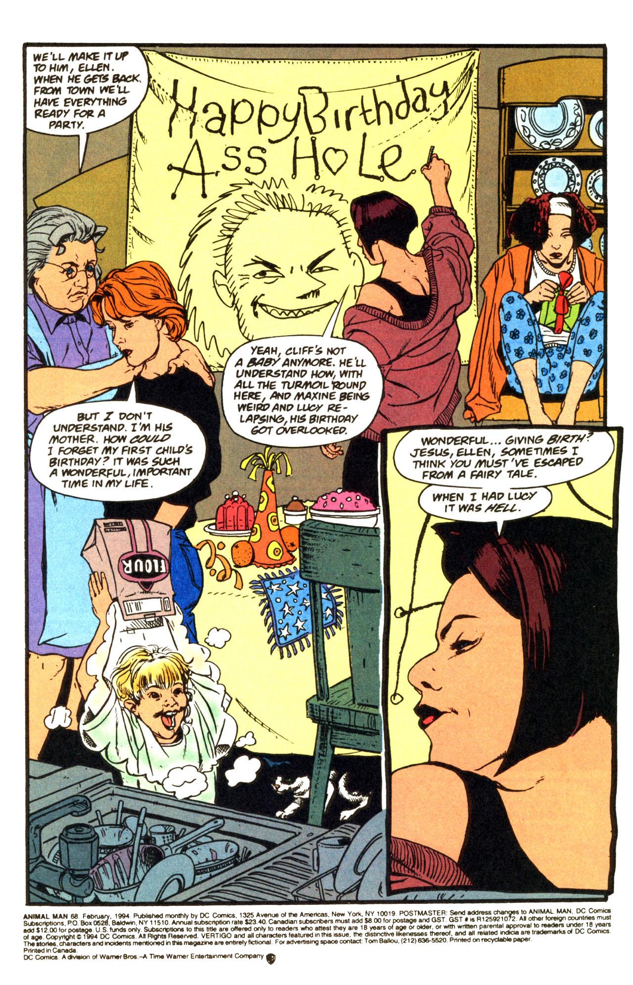 Read online Animal Man (1988) comic -  Issue #68 - 2
