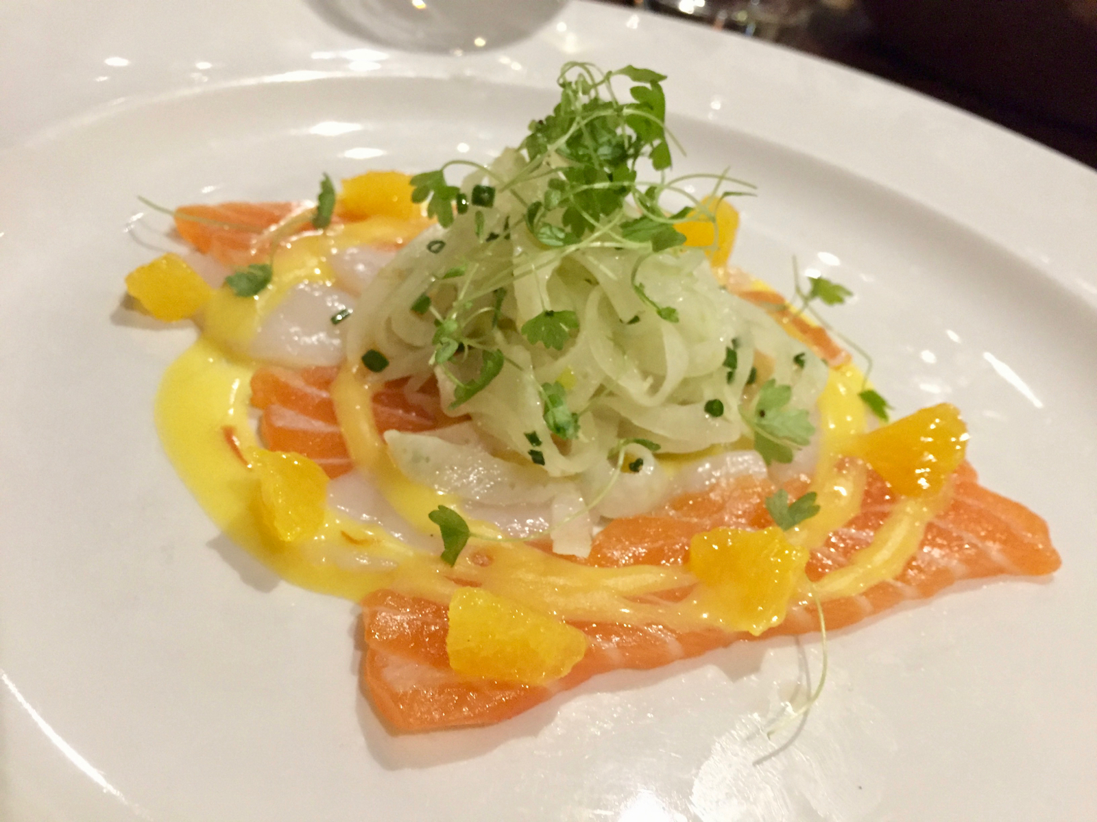 Webbe's at the Fish Cafe - Loch Duart Salmon & Scallop Carpaccio
