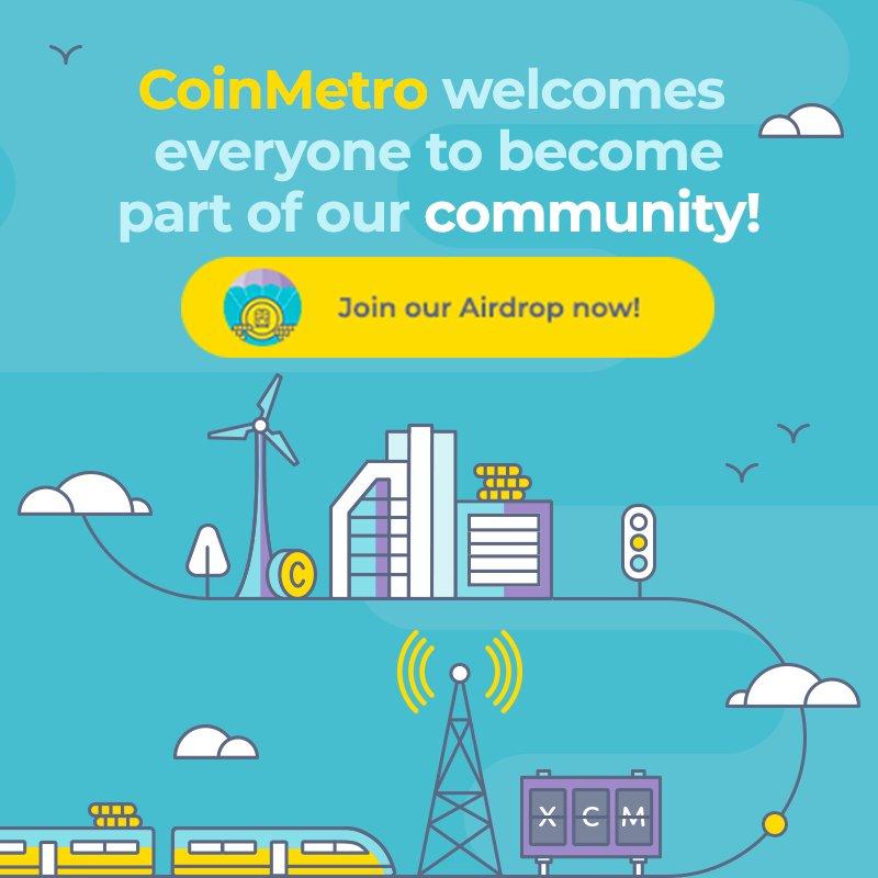 CoinMetro Crypto Airdrop 2018 | Free Airdrop Crypto Tokens
