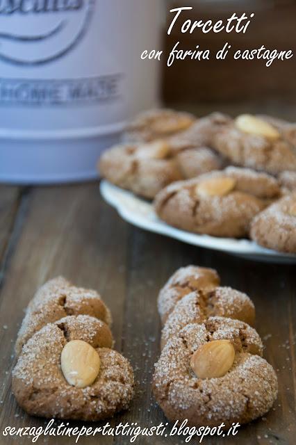 torcetti senza glutine con farina di castagne