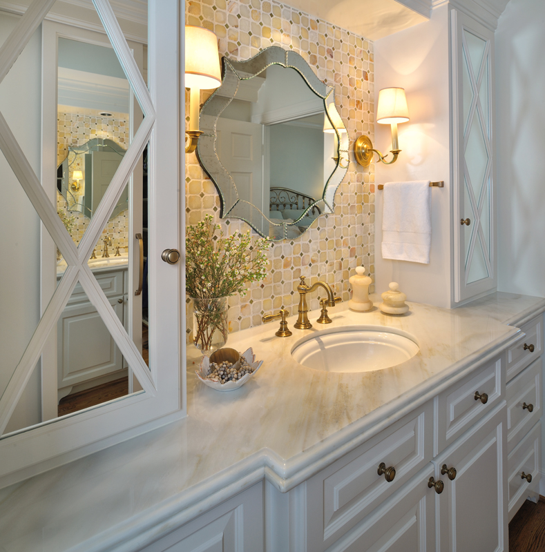 Elegant Bathrooms: Design In Wood: Bathroom Mirrors And Lighting