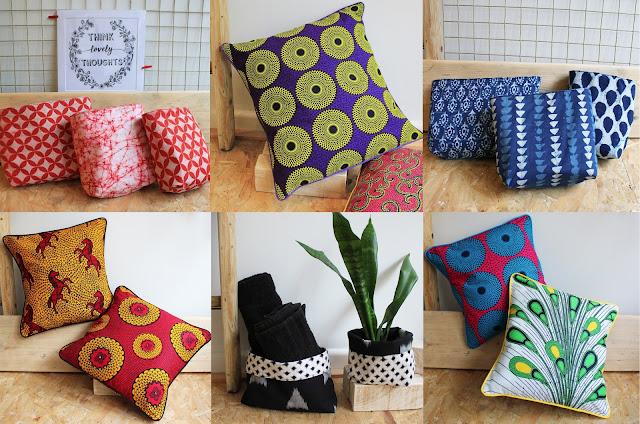 African print cushions, wax print cushions, fabric planters, fabric storage baskets, fabric storage bins, stacking baskets, stacking bins, decorative throw pillow, african cushion, Vlisco cushion, Ankara cushion