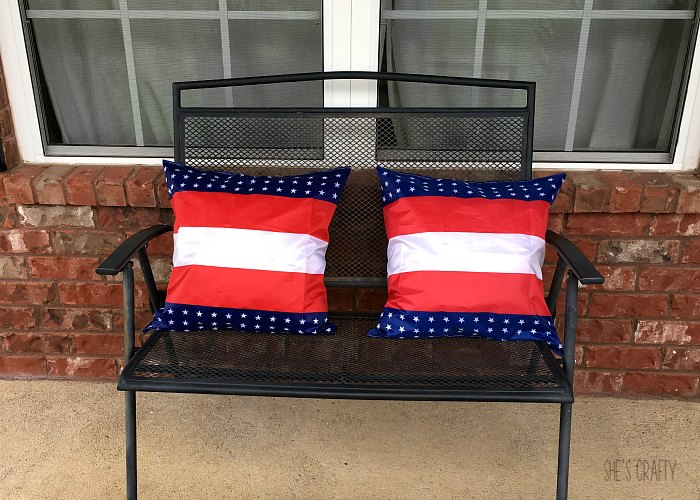 pillow covers, flag, porch decor, red white and blue