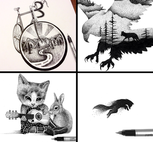 00-Thiago-Bianchini-Eclectic-Collection-of-Drawings-and-Illustrations-www-designstack-co