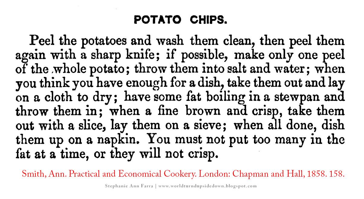 World turnd upside down civil war era potato chip recipe the recipe forumfinder Choice Image