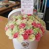 Flowerbox Mawar Putih dan Pink 050817