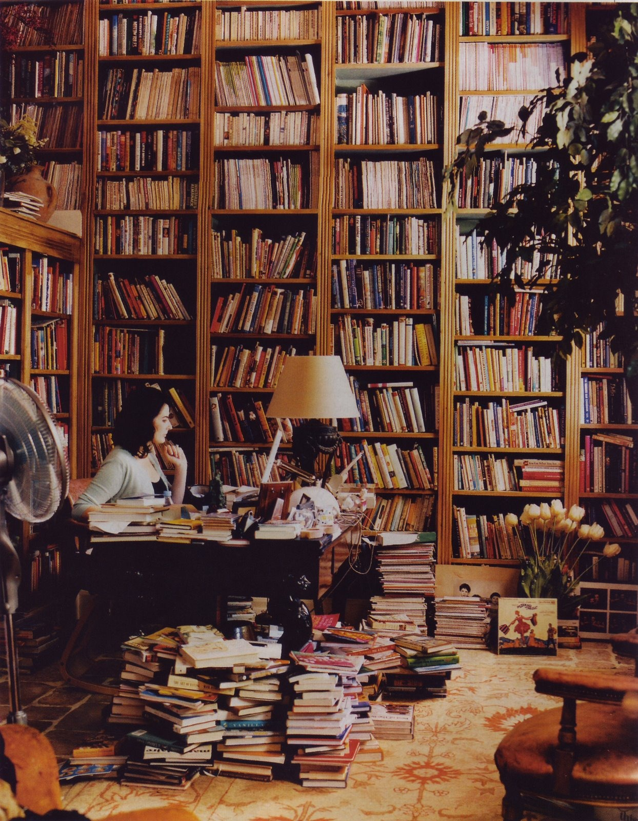 Nigella Lawson in her home library | Lunch & Latte