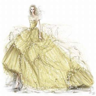 váy cưới màu hoa vàng