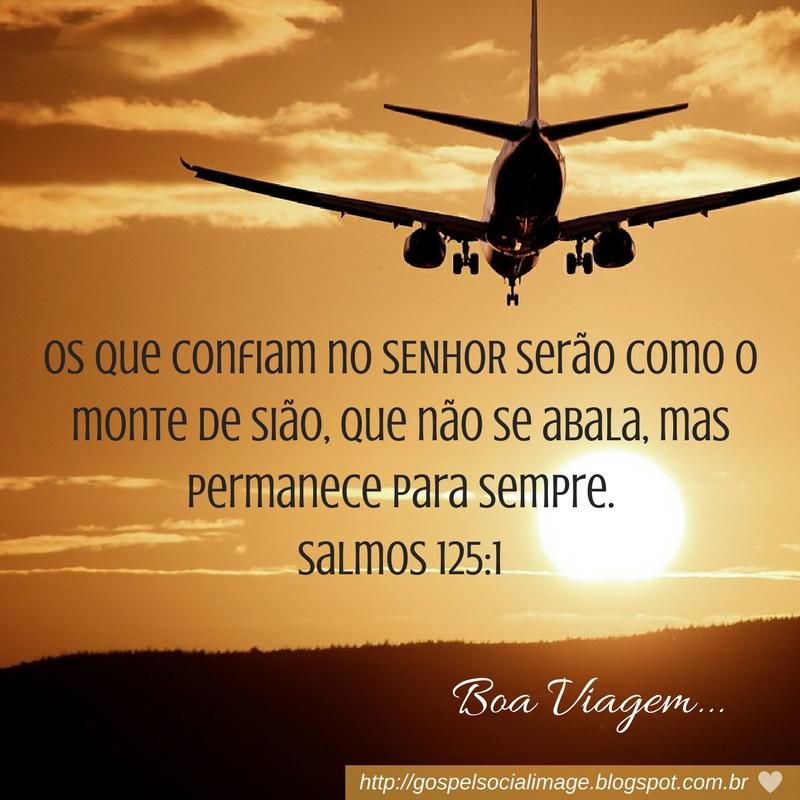 Imagem com versículo para viajar
