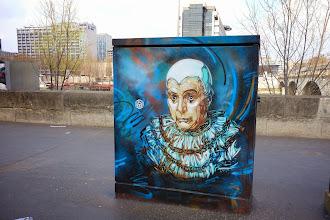 Sunday Street Art : C215 - Le clown triste - Quai de la Gare - Paris 13