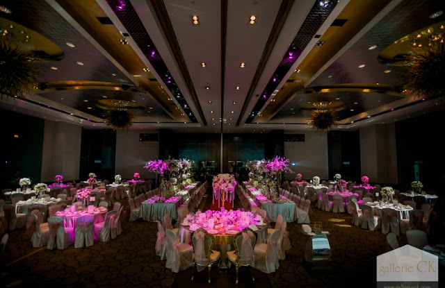 List of wedding venue and reviews grand wedding banquet at westin kl modern ballroom with nice ambient lighting photo by gallerie ck junglespirit Image collections
