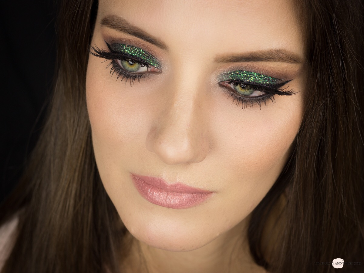 Lit Cosmetics Magic Dragon Glitter Eye Makeup Look AMU