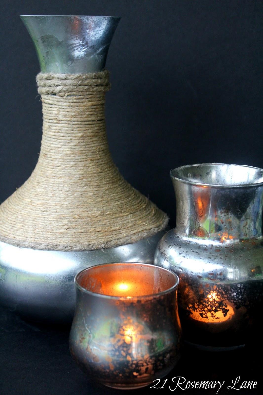 21 Rosemary Lane Make Your Own Mercury Glass Votives And Vases