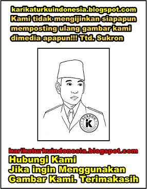 Karikaturku Indonesia Mewarnai Gambar Presiden Pertama Ir Soekarno