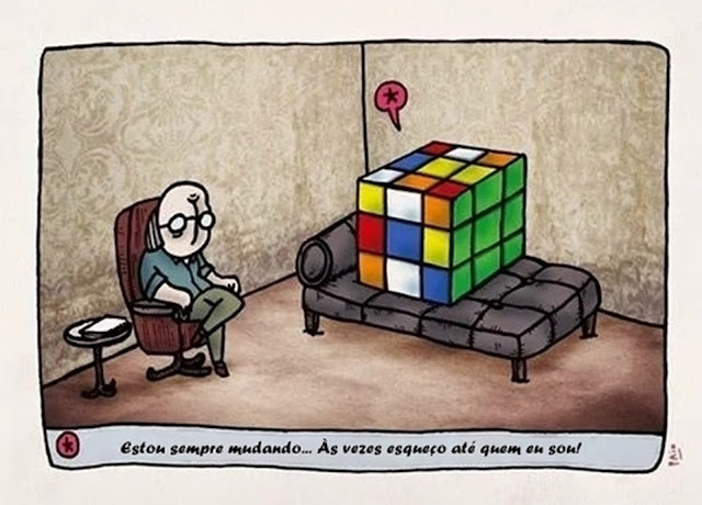 O cubo mágico no divã do analista.