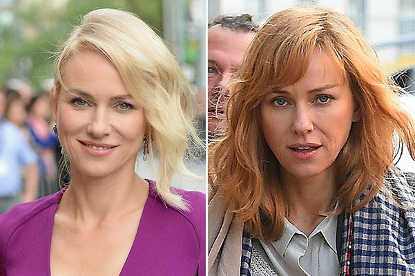 Autumn shade Naomi Watts dyed her hair red