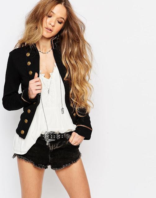 ralph lauren military jacket, ralph denim military jacket, black military jacket brass buttons,