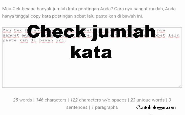 Cara Check Jumlah Kata
