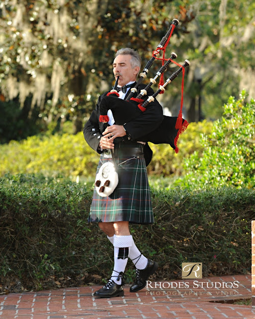 Anna Christine Events Cypress Grove Estate Bag Pipe Ceremony