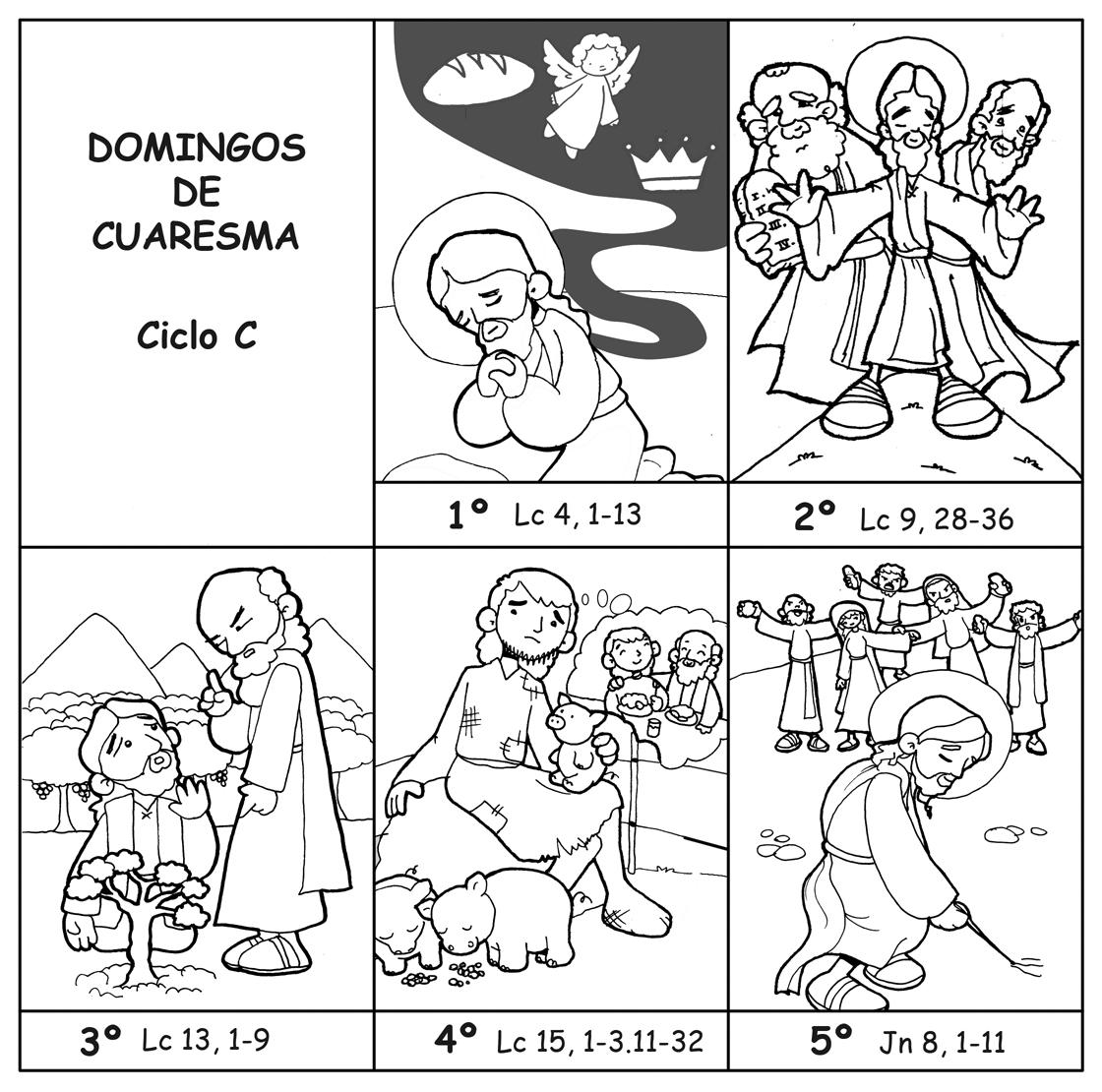 Dibujos Para Catequesis Domingos De Cuaresma Ciclo C