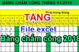 Hướng dẫn cách tạo bảng chấm công bằng Excel đơn giản nhất , download bảng công mẫu