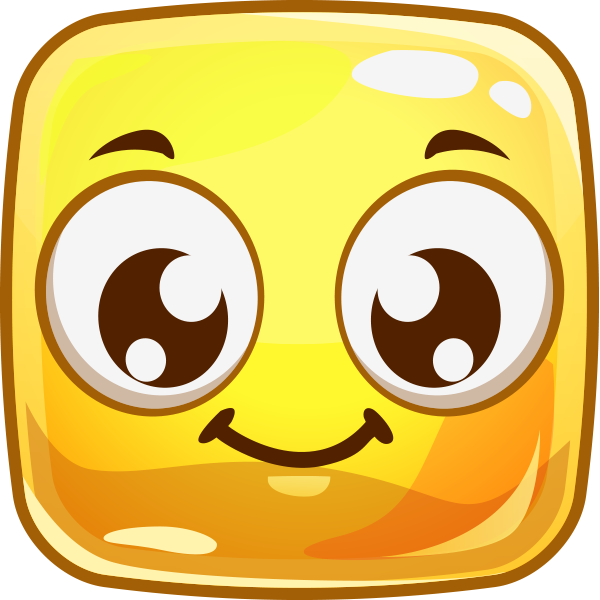 Cheery Square Emoticon