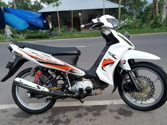 Vega RR Putih Modif Simple Velg Racing
