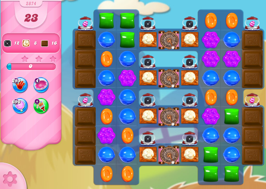 Candy Crush Saga level 2874