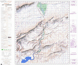Ait-OTHMANE Morocco 50000 (50k) Topographic map free download