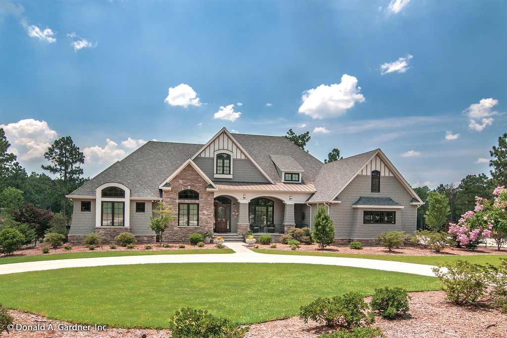 4 for Large one story ranch house plans