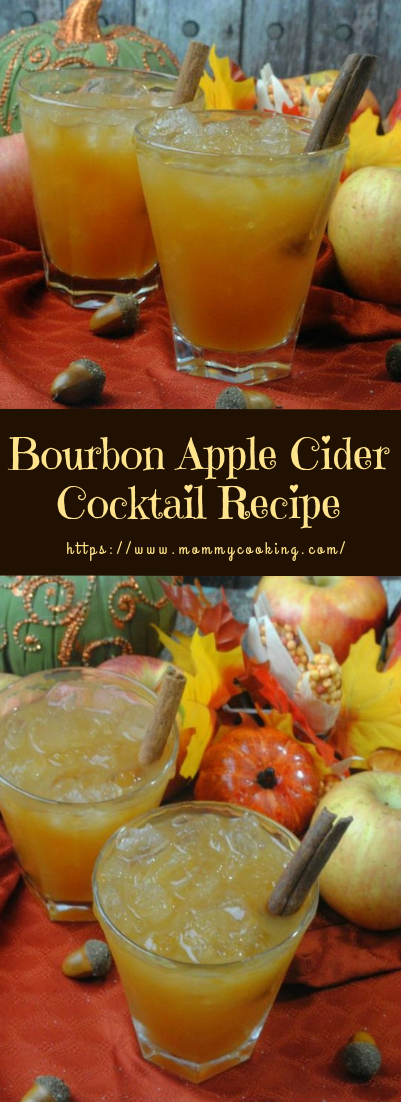 Bourbon Apple Cider Cocktail Recipe #cocktail #recipe