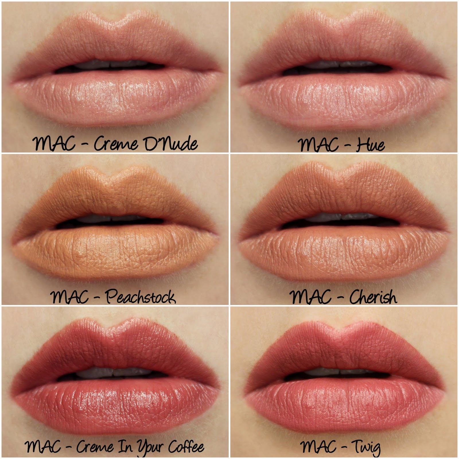 MAC Permanent Nude & Neutral Lipsticks Swatches & Review Part ...