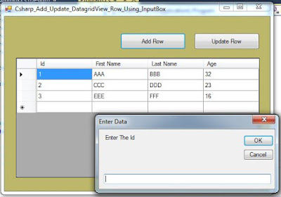 datagridview add update row