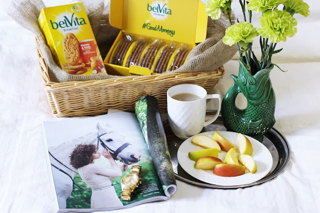 Belvita breakfast biscuits in bed | UK lifestyle blog